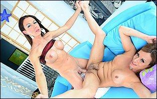 Danika Dreamz and Sabrina Love fucking each other ass